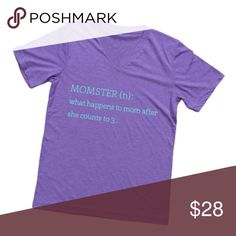 Momster t-shirt Triblend - Vneck Tops Tees - Short Sleeve