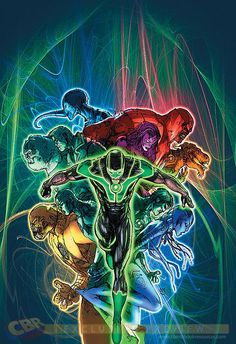 Simon Baz and the other lantern corps ready themselves for the Wrath of the First Lantern.