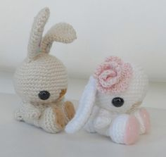 Bunny Rabbit Patterns Free | Brown or beige embroidery floss, for the nose and to attach the felt ...
