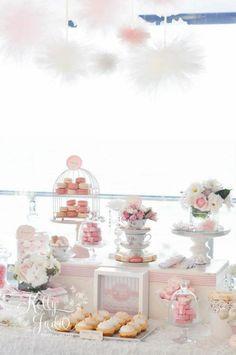 ideas for bird cage centerpiece baby shower party ideas Vintage Party, Vintage Pink, Vintage Tea, Wedding Girl, Our Wedding, Wedding Candy, Shower Party, Baby Shower Parties, Wedding Desserts