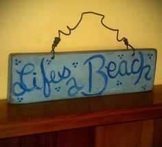 Rustic Shabby Chic Hand Painted Wooden Sign  by RusticCharmDesign