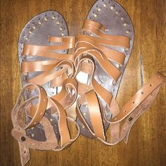 Free People sunever gladiator sandals Great condition, worn once. Free People Shoes Sandals