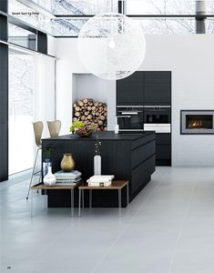 >>>Cheap Sale OFF! >>>Visit>> Arne Jacobsens iconic Series 7 barstools for Fritz Hansen and the beautiful Raimond pendant from Moooi Contemporary Kitchen Design, Interior Design Kitchen, Interior Decorating, Black Kitchens, Home Kitchens, Kitchen Black, Layout Design, Kitchen Dinning Room, Dining