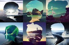Silhouette Landscapes by Aritz Bermudez