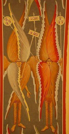 #seraphim #cherubim #stmichael #angels #rosary #stmichaelchaplet Order Of Angels, Real Angels, Angels And Demons, Byzantine Icons, Byzantine Art, Seraph Angel, Christian Mysticism, Medieval Paintings, Masonic Symbols