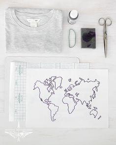 DIY shirt with a map/Cazadora de inspiración © Anna Tykhonova