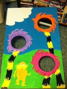 Game- horton hears a who bean bag toss is a fun way for kids to get out some energy.