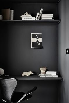 'Minimal Interior Design Inspiration' is a biweekly showcase of some of the most perfectly minimal interior design examples that we've found around the web - Workspace Inspiration, Decoration Inspiration, Interior Design Examples, Interior Design Inspiration, Scandinavian Apartment, Scandinavian Interior, Black Painted Walls, Dark Interiors, Design Blog