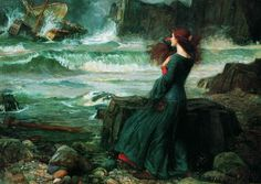 """Miranda - The Tempest"", 1916 by John William Waterhouse"