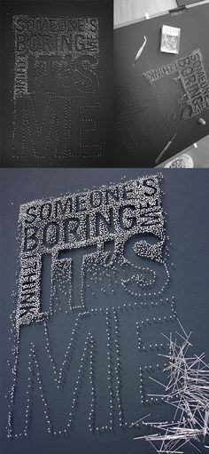Martin Pyper: Pins and Needles typography string process multiples