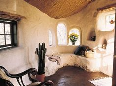 Strawbale House Interior