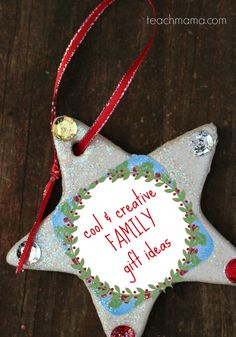 cool and creative FAMILY gift ideas --> LOVE these ideas bc family + time together + fun = happy family!