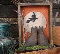 Primitive Halloween Shadow box - I a big Fan of Primitives!