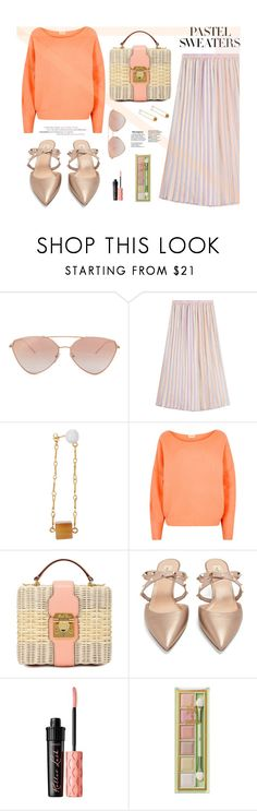 """""""Pastel sweaters!"""" by joliedy ❤ liked on Polyvore featuring Marco de Vincenzo, Mark Cross, Benefit and Pixi"""