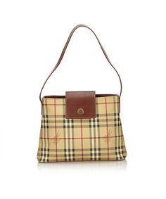 b619f4ea7f52 BURBERRY PRE-OWNED  PLAID SHOULDER BAG.  burberry  bags  shoulder bags   leather  pvc