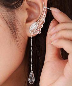 Angel Wing Cuff-Earrings