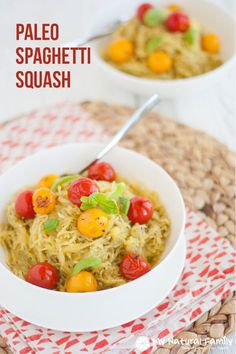 Today we have a Paleo spaghetti squash recipe - it has a great flavor and is a great alternative to pasta when living a Paleo lifestyle.