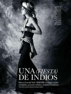 Una (Fiesta) de Indios | Bianca Klamt | Pascal Chevallier #photography | Elle Spain December 2011