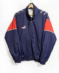 89df26217752 Vintage 90s Puma Hip Hop Rap Style Windbreaker Jacket Sleeve Vintage  Windbreaker