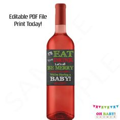Humor 8 Pregnancy Announcement Gifts Funny Wine... Announcing New Baby Reveal