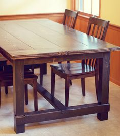 our new DIY farmhouse table