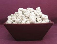 Sunbutter® Puppy Chow from Food.com:   Free of: wheat, gluten, peanuts, tree nuts, egg and soy. Option for dairy free.