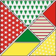 Christmas Tangram: 14 templates to print - Christmas Tangram to print - Aude Paret - arabic styla Noel Christmas, Christmas Gifts, Xmas, Origami, Tangram, Theme Noel, Montessori Activities, Christmas Activities, Advent
