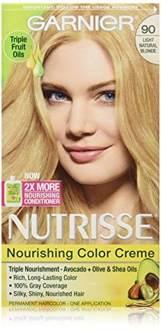 Garnier Nutrisse Nourishing Color Creme, 90 Light Natural Blonde >>> For more information, visit http://www.amazon.com/gp/product/B002JL423Y/?tag=passion4fashion003e-20&pq=030816232207