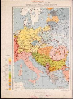 Ethnographical Map of Central & South Eastern Europe
