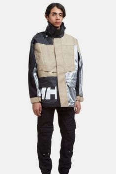 GmbH & Helly Hansen Drop Color-Blocked Anoraks for Spring/Summer Logo-heavy graphics and functional attributes. Best Hiking Pants, Biker Pants, Conceptual Fashion, Sailing Outfit, Men's Leather Jacket, Cyberpunk Fashion, Mens Activewear, Helly Hansen, Outdoor Woman