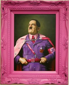 Painting by Scott Scheidly - Glam dictators and popes