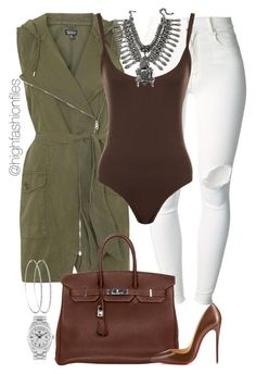 """Escape"" by highfashionfiles ❤ liked on Polyvore featuring moda, (+) PEOPLE, Topshop, WearAll, Hermès, Rolex, DYLANLEX y Christian Louboutin"
