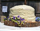 Wood Cake Stand - Rustic Wedding Cake Stand - Wooden Cake Stand