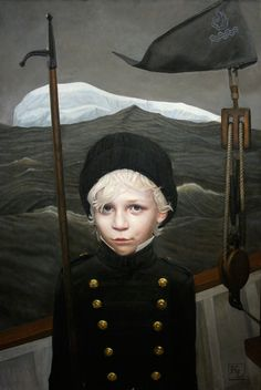 Kris Lewis, you are a painting beast. His paintings give me a strange feeling of nostalgia and emotion.