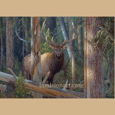 The Recluse by Hayden Lambson #elk #art #wildlife #hunting