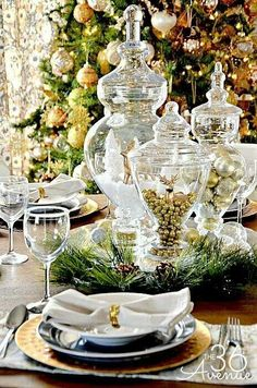 Golden table decor