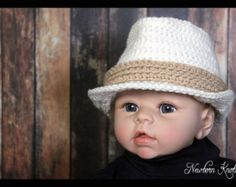 CROCHET PATTERN Baby Funky Fedora. Pattern number 061. Instant Download