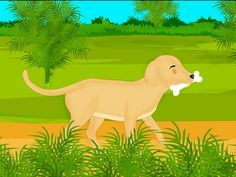 Short moral stories for kids - the greedy dog story | the dog and the shadow story