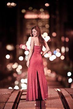 strobist shot of girl model in san francisco