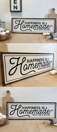 33 Amazing Farmhouse Kitchen Art Ideas To Scale Up Your Kitchen. If you are looking for Farmhouse Kitchen Art Ideas To Scale Up Your Kitchen, You come to the right place. Below are the Farmhouse Kitc. Kitchen Sign Diy, Farmhouse Kitchen Signs, Kitchen Decor Themes, Farmhouse Kitchen Decor, Kitchen Art, Home Decor Kitchen, Diy Home Decor, Apartment Kitchen, Kitchen Design