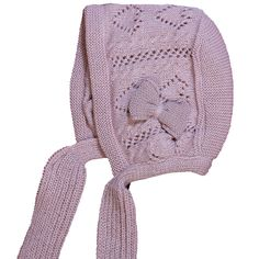 Capota con lazada de bufanda de lana y lazo decorativo Bufanda De Lana e0314fb4446