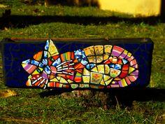 Jardinière mosaïque chat patchwork : Accessoires de maison par caromosaique http://amzn.to/2k2HTMQ