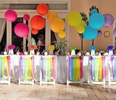 Rainbow + Chevron Arts and Crafts Party // Hostess with the Mostess® Rainbow Parties, Rainbow Birthday Party, Art Birthday, Birthday Parties, Arte Chevron, Rainbow Chevron, Rainbow Art, Rainbow Balloons, Rainbow Paper