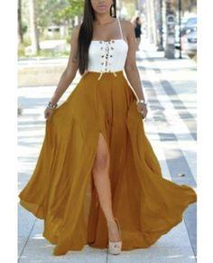 Euramerican Spaghetti Strap Patchwork Chiffon Beach Dress