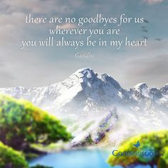 There are no goodbyes..