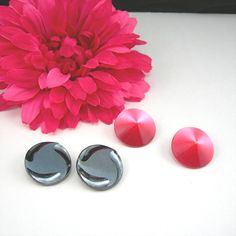 Clip Back Earrings Vintage Button Style by AtticDustAntiques, $18.00