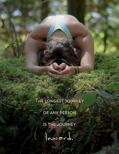 yoga pose so peacefully deeply into forest moss - grounded indeed ; ) (Namaste: the longest journey of any person is the journey INside) Hatha Yoga, Sup Yoga, Kundalini Yoga, Restorative Yoga, Yoga Meditation, Meditation Practices, Namaste Yoga, Meditation Quotes, Healing Meditation