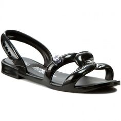 Sandały MELISSA - Melissa Tube Sandal+Jeremy S 31844 Black 01003 Sandals, Shoes, Black, Fashion, Moda, Shoes Sandals, Zapatos, Shoes Outlet, Black People