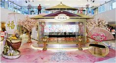 Chinese Wedding Decor, Chinese New Year Decorations, New Years Decorations, Wedding Decorations, Photo Booth Design, Chinese Valentine's Day, Cosmetic Display, New Year Designs, Exhibition Booth Design
