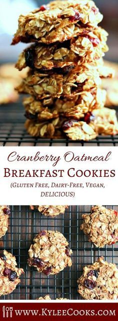 Healthy Cranberry Oatmeal Breakfast Cookies with no butter, oil, eggs, flour, or sugar. Which means - I can approve eating cookies for breakfast. And so can you! Oatmeal Breakfast Cookies, Healthy Breakfast Muffins, Best Breakfast, Breakfast Ideas, Oatmeal Bites, Ketogenic Breakfast, Breakfast Fruit, Breakfast Biscuits, Breakfast Dessert
